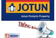 Thông báo điều chỉnh giá sơn Jotun năm 2018