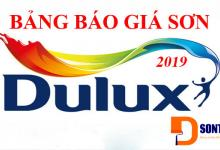 Báo giá Sơn Dulux 2019 - Bảng giá niêm yết của tập đoàn AkzoNobel sơn Dulux năm 2019