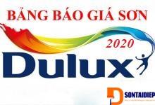 Báo giá Sơn Dulux 2020- Bảng giá niêm yết của tập đoàn AkzoNobel sơn Dulux năm 2020
