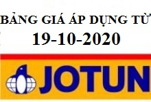 Bảng báo giá sơn JOTUN có hiệu lực từ ngày 19-10-2020