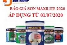 Báo giá Sơn Maxilite 2020 - Bảng giá niêm yết của tập đoàn AkzoNobel áp dụng từ ngày 01/07/2020