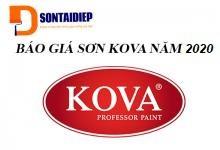 Báo giá sơn Kova 2020- Bảng giá niêm yết tiêu chuẩn của tập đoàn Kova áp dụng từ 02-07-2020