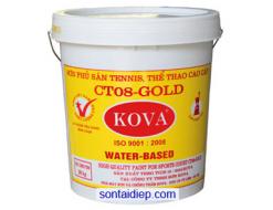Kova CT08-Gold Sơn sân tennis, sàn thể thao đa năng màu trắng,xanh, đỏ(4kg)