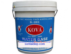 Sơn KOVA K261: Sơn phủ ngoài trời không bóng - 4kg