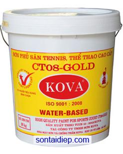 Kova CT08-Gold Sơn sân tennis, sàn thể thao đa năng màu(4kg)